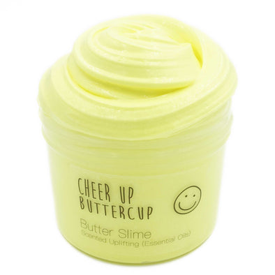 Cheer Up Buttercup Yellow Butter Slime 8oz Front View