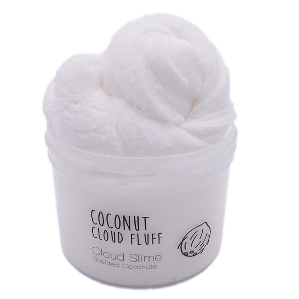 Coconut Cloud Fluff White Cloud Slime Fantasies Shop 8oz Front View