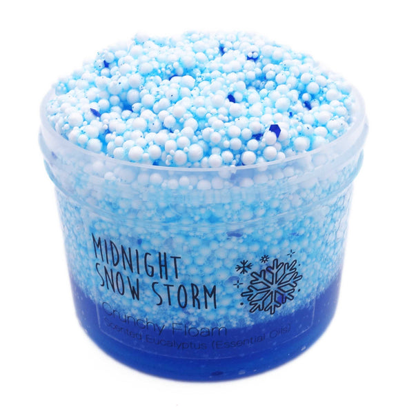 Midnight Snow Storm Crunchy Clear Glue Floam