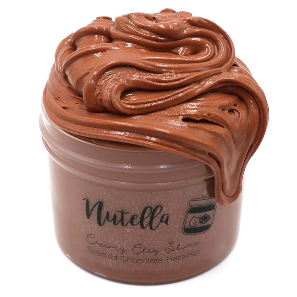 Nutella Brown Chocolate Clay Butter Slime Fantasies Shop 8oz Front View