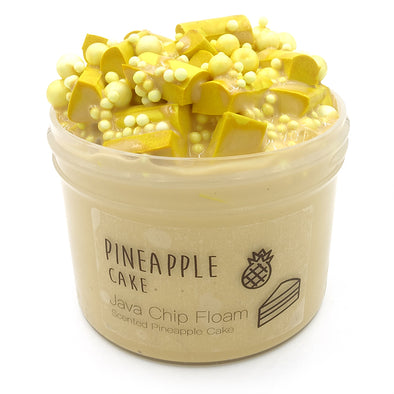 Pineapple Cake Yellow Java Chip Floam Slime 8oz Front View