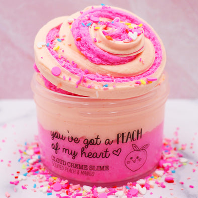 Youve Got A Peach Of My Heart Valentines Cloud Creme Butter Sprinkles Slime Fantasies Shop 7oz Front View