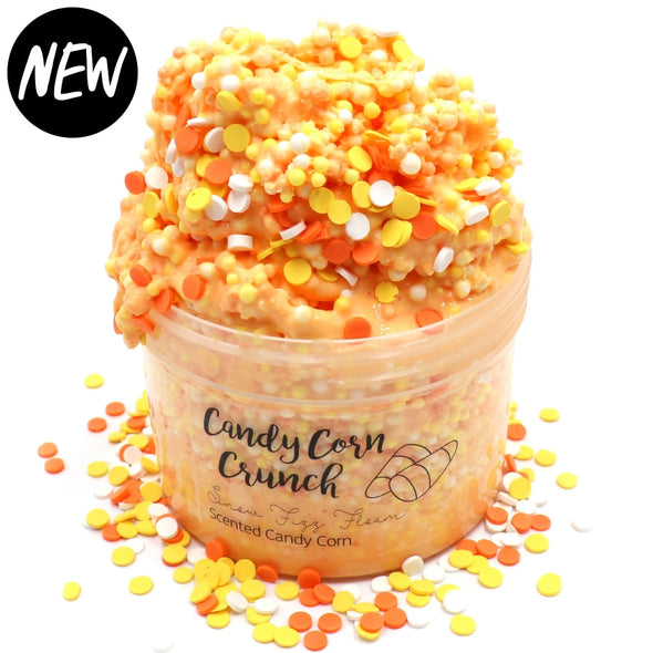 Candy Corn Crunch Orange Crunchy Floam Fall Halloween Slime Fantasies Shop 8oz Front View