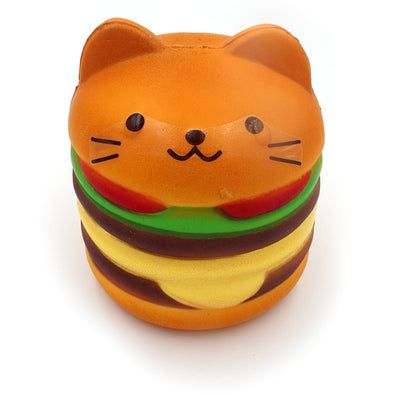 Cat Hamburger Slow Rising Squishy Front View