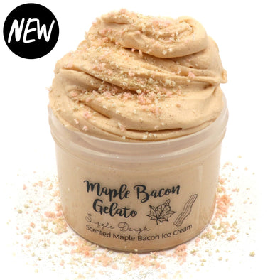 Maple Bacon Gelato Brown Soft Creamy Sizzly Butter Slime Fantasies Shop 8oz Front View