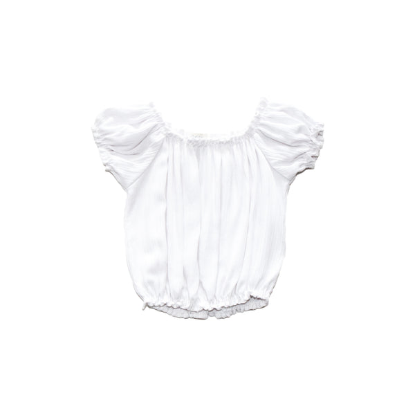 Girls Cap Sleeve Crinkle Top