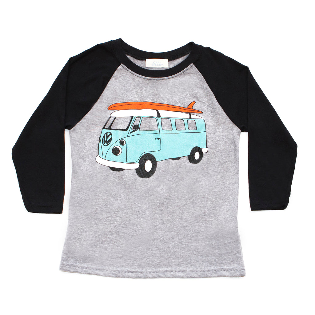 Boys Surf Van Baseball Tee