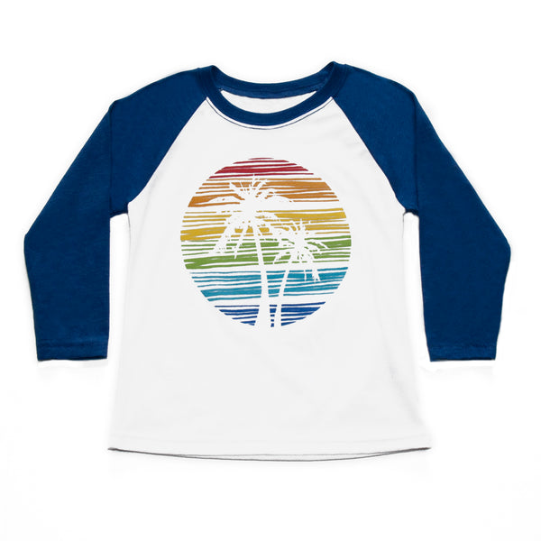 Boys Vintage Palm Tree Baseball Tee