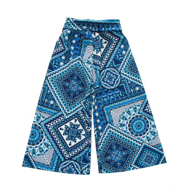 Girls Hippie Patchwork Foldover Pant