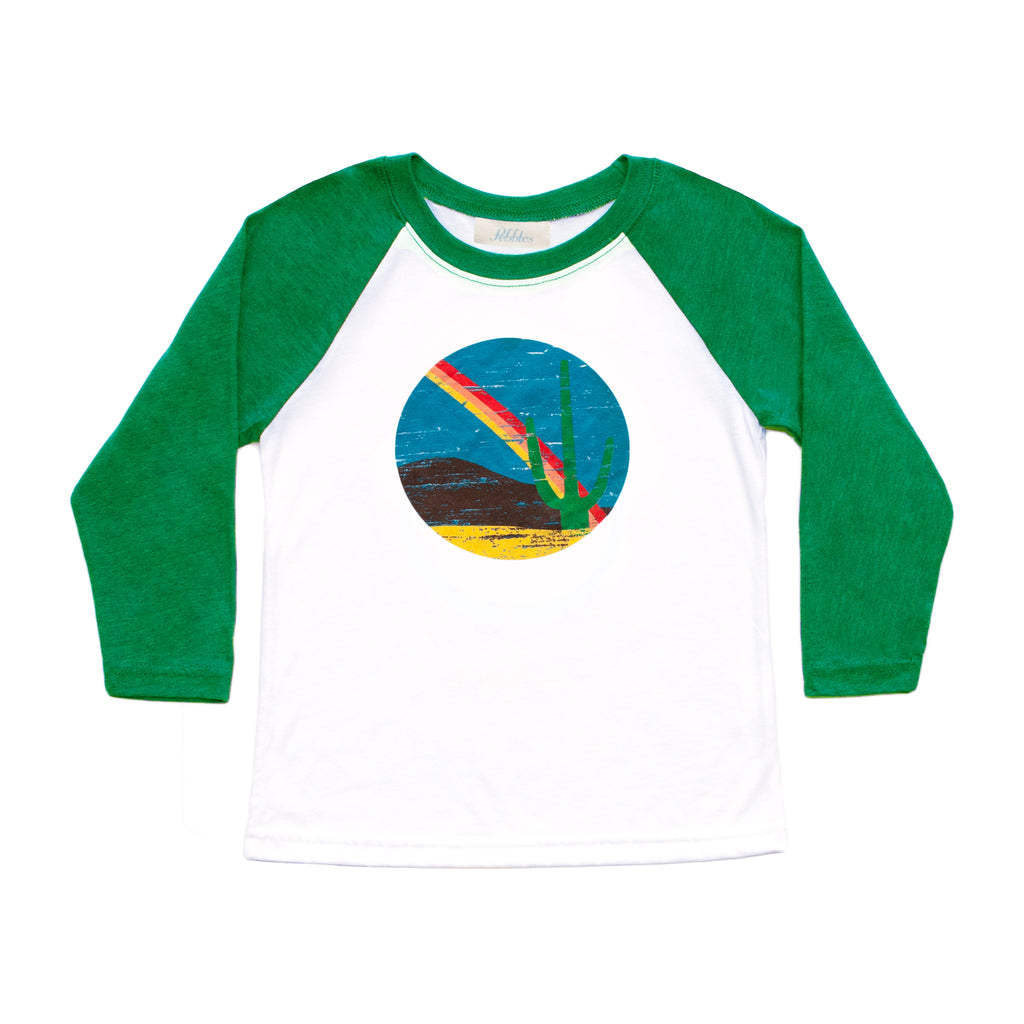 Boys Cactus Rainbow Baseball Tee