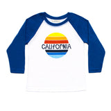 Boys California Retro Rainbow Baseball Tee