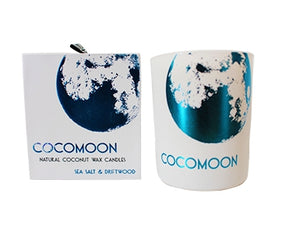 Luxury Natural Scented Candle - SEA SALT & DRIFTWOOD 220g - Cocomoon