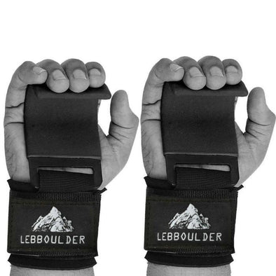 Grip Power Pads With Heavy Duty Metal Lifting Steel Hooks | Best Weightlifting Strap Hooks for Gym Training, Deadlifts & Shrugs | Ultimate Grips Powerlifting with Cushioned Neoprene Wrist Straps | LEBBOULDER Power Weight Lifting Hooks. Weightlifting Strap Hooks for Gym Training, Workouts, Deadlifts, & Shrugs. Features Grips Powerlifting Hook Cushioned with Neoprene Wrist Straps.