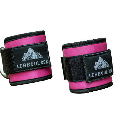 Ankle Straps for Cable Machine and Resistance - Pink