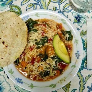 A Greek-Colombian Fusion Minestrone Soup