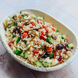 A Delicious Greek Orzo Salad