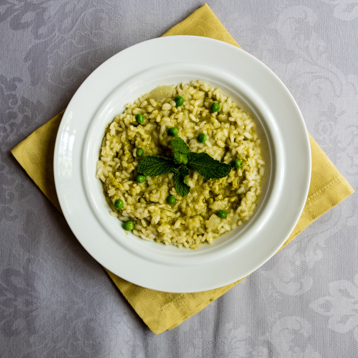 Spring Peas & Mint Risotto