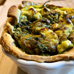 How to Make a French Quiche with a Spinach and Feta Greek Twist