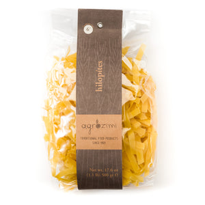 Agrozimi Traditional Egg & Milk Hilopites, Greek Artisanal Fettuccine