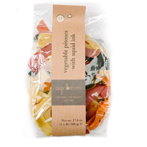 Agrozimi vegetable and squid ink petoura (pappardelle) Zelos Authentic Greek Artisan The Epicurean Greek Gift Box