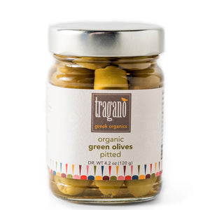 Tragano Greek Organics pitted green olives Zelos Authentic Greek Artisan The Epicurean Greek Gift Box