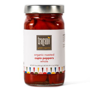 Tragano Greek Organics Roasted Whole Capia (Red) Peppers