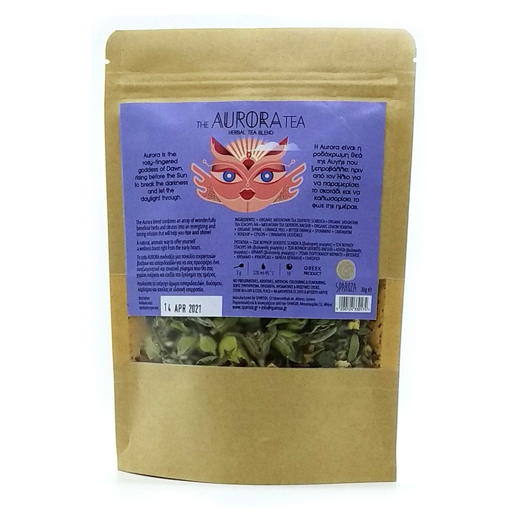 Sparoza - The Aurora Tea Refill - Handcrafted Loose Leaf Greek Mountain Tea & Herbs