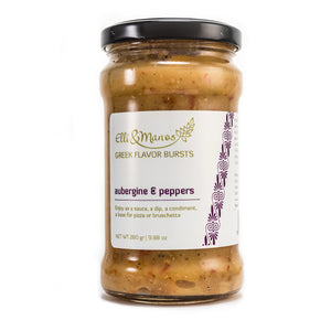 Elli & Manos Aubergine & Peppers All-Natural Veggie Dip No Additives