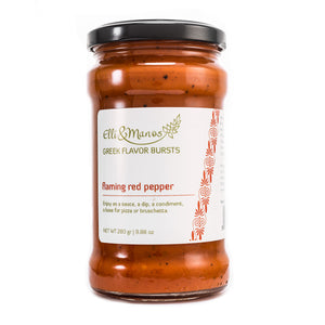 Elli & Manos Flaming Red Pepper Spread. All Natural Veggie Dip