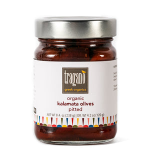 Tragano Greek organics Kalamata pitted olives - Zelos Authentic Greek Artisan The Classic Greek Gift Box