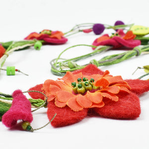 Felt Floral Necklace