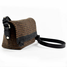 Compass Handbag in Earth Multistripe - side view.