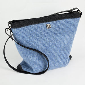 Chambray Stripe handbag. Made in Colorado.
