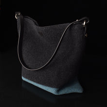 The Explorer Merino Wool Handbag in color Ocean.