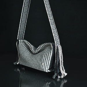 Vegetarian friendly - The Loki Handbag shown in Zebra