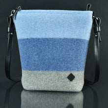 Scout Handbag in denim color block.