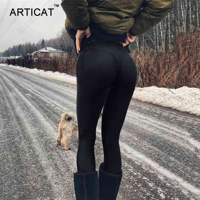 High Waist Stretch Leggings - Shopaxy