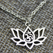 Lotus Yoga Om Pendant Necklace - Shopaxy