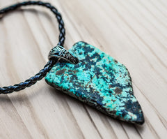 Turquoise birth stone necklace