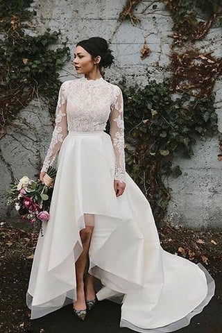 High Low hemline wedding dress june avenue