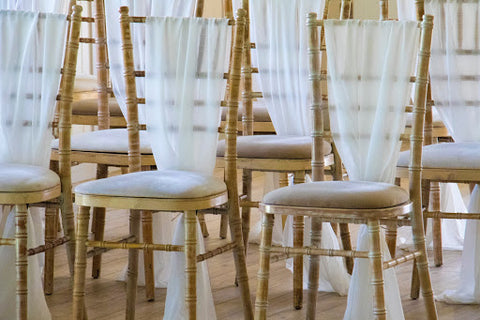 Wedding chairs by June Avenue