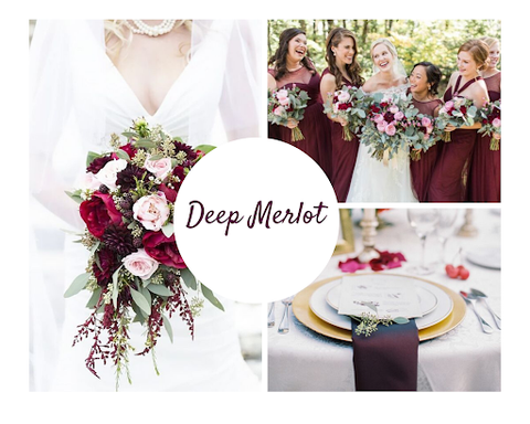 Deep merlot wedding theme by June Avenue