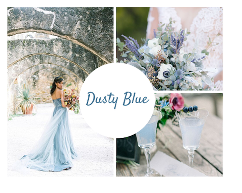 Dusty blue wedding theme by June Avenue