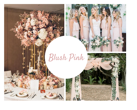 Blush pink wedding theme by June Avenue