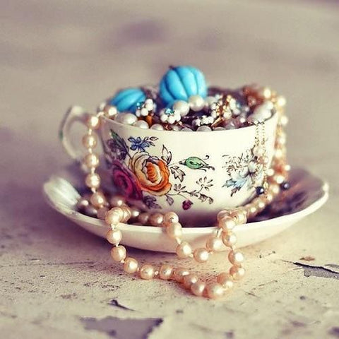 Teacup jewelry stand jewels and more