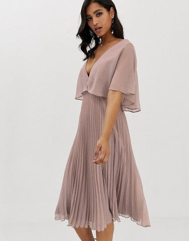 Flutter sleeve bridesmaid dress by June Avenue
