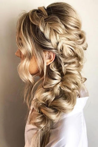 Fishtail bridal hairstyle june avenue