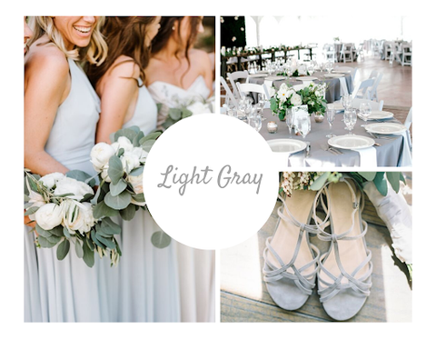 Light Gray Wedding theme by June Avenue