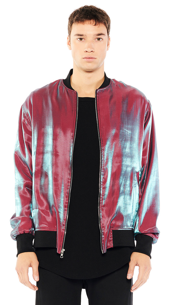 Mens pink bomber