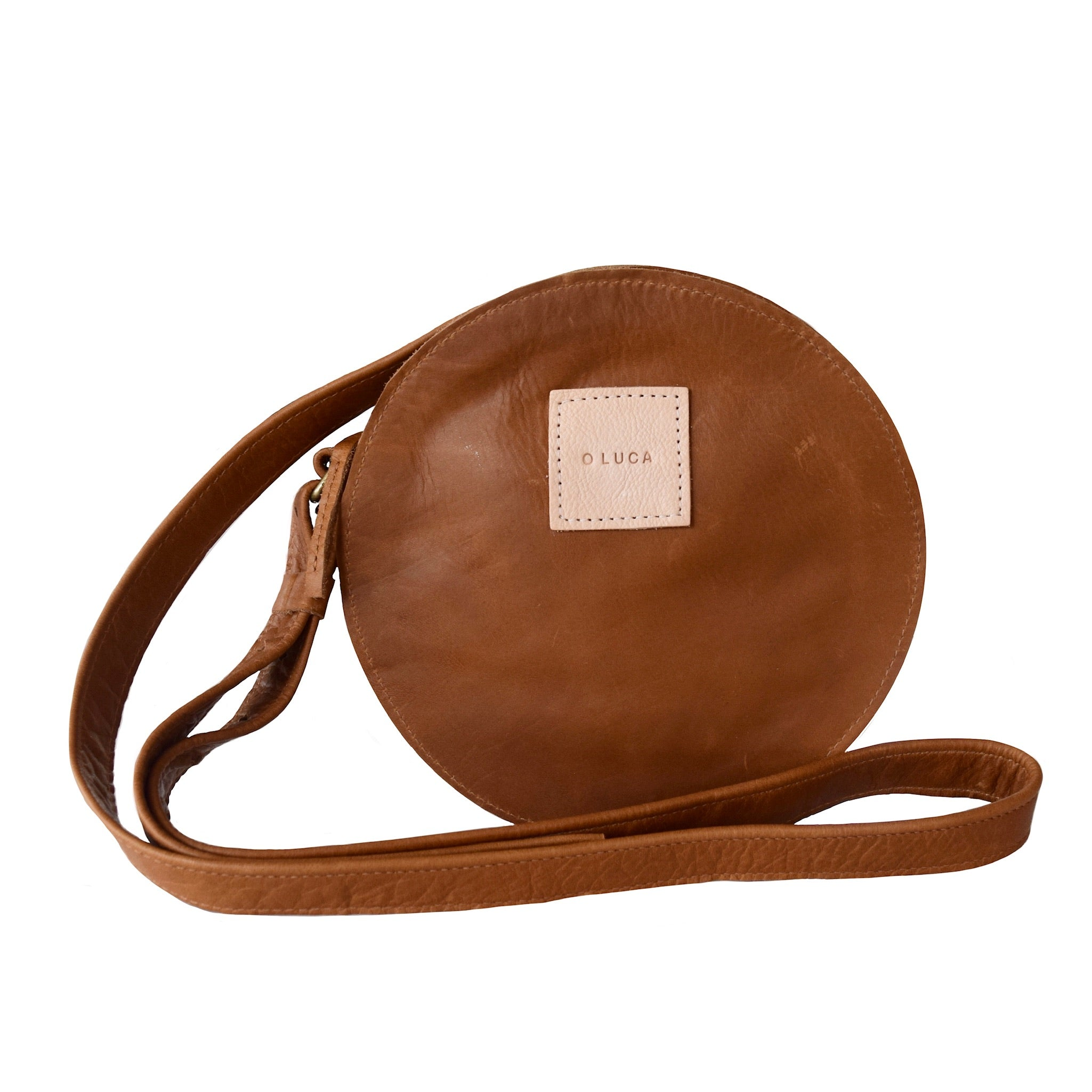 O STOCKHOLM - small leather crossbody purse handbag - caramel